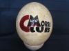 uovo di struzzo decorato
