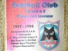Gagliardetto del Moral FC 1997/1998